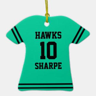 Ornamento del recuerdo del jersey del verde de la adornos