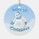 Ornamento del recuerdo del navidad del bebé del ch ornamento para reyes magos