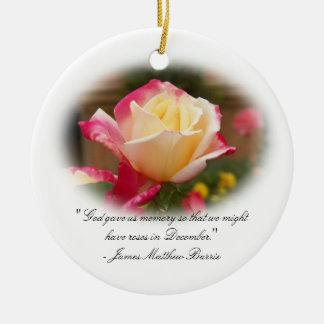 Ornamento del recuerdo - rosas en diciembre ornamentos de reyes magos