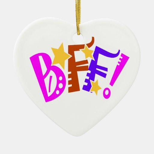 Ornamento del regalo de BFF Adorno Navideño De Cerámica En Forma De Corazón