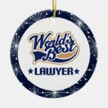 Ornamento del regalo del abogado ornamento de navidad