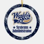 Ornamento del regalo del administrador de sistemas ornamento de reyes magos
