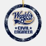 Ornamento del regalo del ingeniero civil ornamentos de reyes