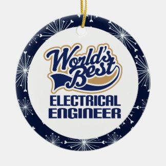 Ornamento del regalo del ingeniero eléctrico ornamento de navidad