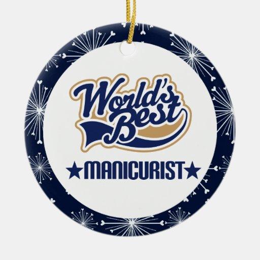 Ornamento del regalo del manicuro ornaments para arbol de navidad
