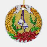Ornamento del regalo del mensaje del navidad ornamentos de reyes magos