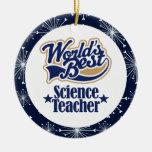 Ornamento del regalo del profesor de ciencias ornamentos de reyes magos