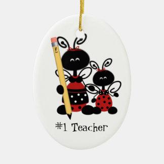 Ornamento del regalo del profesor de escuela ornamentos de reyes magos