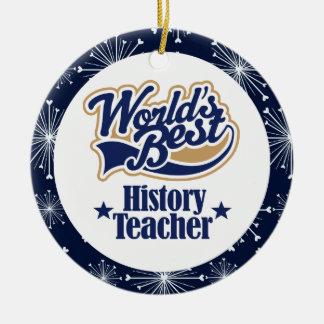 Ornamento del regalo del profesor de la historia ornamento para arbol de navidad