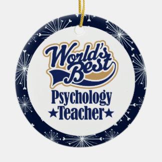 Ornamento del regalo del profesor de la psicología ornamento para arbol de navidad