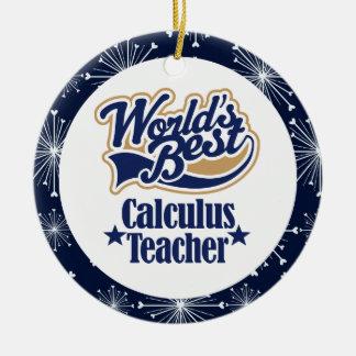 Ornamento del regalo del profesor del cálculo ornamento de reyes magos