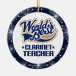 Ornamento del regalo del profesor del Clarinet Ornamento De Navidad