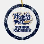 Ornamento del regalo del psicólogo de la escuela ornamentos de navidad