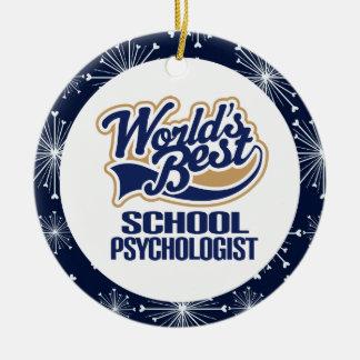 Ornamento del regalo del psicólogo de la escuela adorno redondo de cerámica