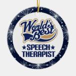 Ornamento del regalo del terapeuta de discurso ornamento de navidad