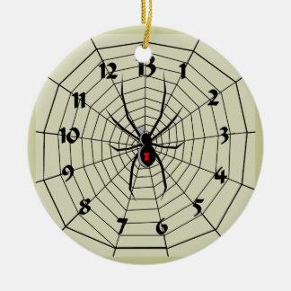 ¡Ornamento del reloj del Web de araña de 13 horas! Ornamentos De Reyes