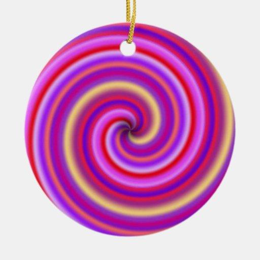 Ornamento del remolino del bastón de caramelo ornamentos de navidad