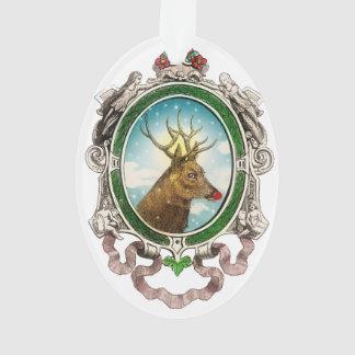 Ornamento del reno de Rudolf Santa del vintage