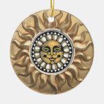 Ornamento del resplandor solar ornamento para arbol de navidad