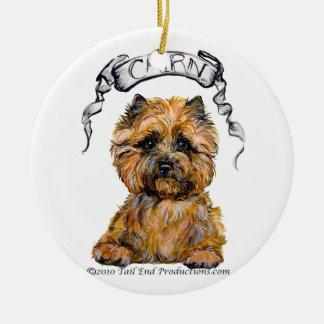 Ornamento del retrato de Terrier de mojón Adorno De Navidad