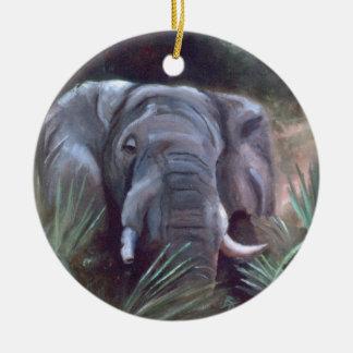 Ornamento del retrato del elefante ornato