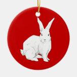 Ornamento del rojo del conejo adornos de navidad