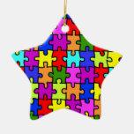 """Ornamento del """"rompecabezas colorido"""" ornaments para arbol de navidad"""