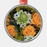 Ornamento del rosa amarillo ornamento para arbol de navidad