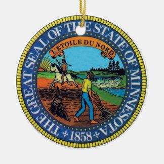 Ornamento del sello del estado de Minnesota Ornamento De Reyes Magos