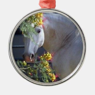 Ornamento del semental de Lipizzan Adorno Navideño Redondo De Metal
