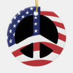 Ornamento del signo de la paz de la bandera de los adorno para reyes