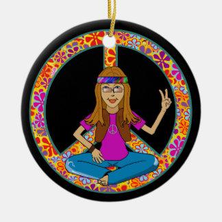 Ornamento del signo de la paz del polluelo del Hip Ornamentos De Reyes