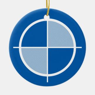 Ornamento del símbolo de la elevación (luz) adorno navideño redondo de cerámica