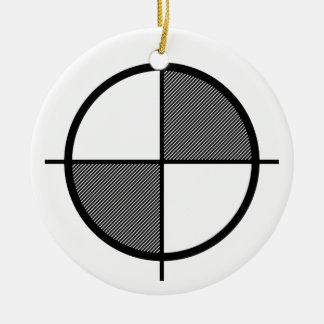 Ornamento del símbolo de la elevación (oscuro) adorno navideño redondo de cerámica