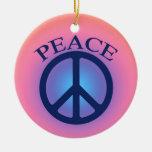 Ornamento del símbolo de paz adorno para reyes