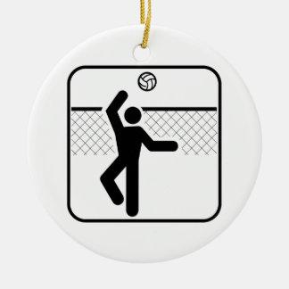Ornamento del símbolo del voleibol ornatos