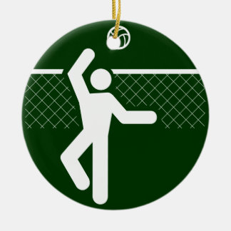 Ornamento del símbolo del voleibol ornamentos de reyes