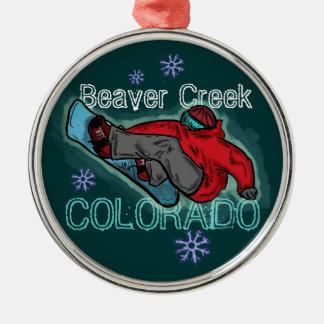 Ornamento del snowboarder de Colorado del Beaver C Adorno De Navidad
