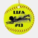 Ornamento del softball de Fastpitch Adorno Para Reyes