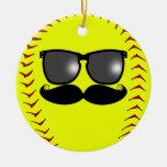 Ornamento del softball de Fastpitch del bigote Ornamentos De Reyes