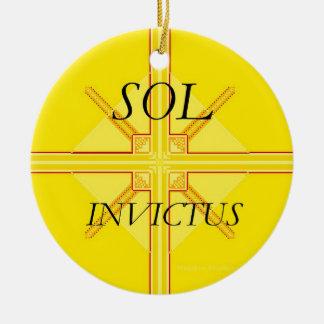 Ornamento del solenoide Invictus Adorno Navideño Redondo De Cerámica