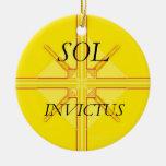Ornamento del solenoide Invictus Adorno Redondo De Cerámica