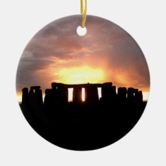 Ornamento del solsticio de invierno de Stonehenge Adorno De Navidad