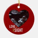 Ornamento del Sonogram - amor en la primera vista Ornamente De Reyes