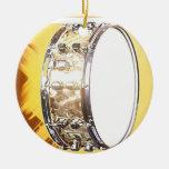 Ornamento del tambor adorno navideño redondo de cerámica