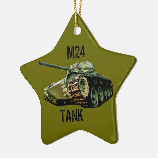 Ornamento del tanque M24 Adorno Navideño De Cerámica En Forma De Estrella