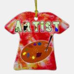 Ornamento del teñido anudado del artista adornos de navidad