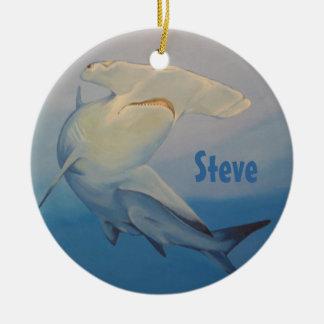 Ornamento del tiburón de Hammerhead Adornos De Navidad