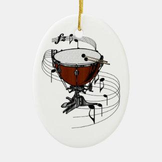 Ornamento del Timpani (tambor de la caldera) Adorno Navideño Ovalado De Cerámica