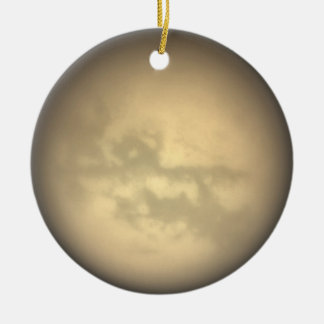 Ornamento del titán adorno navideño redondo de cerámica